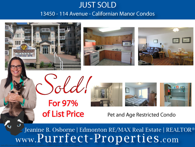 Californian Manor Condo in Edmonton - Just Sold