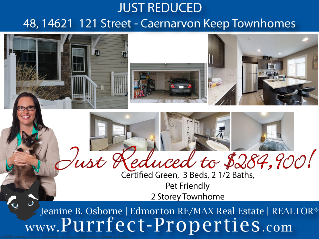 Caernarvon Keep - 2 Storey Townhome for Sale in Edmonton - Just Reduced