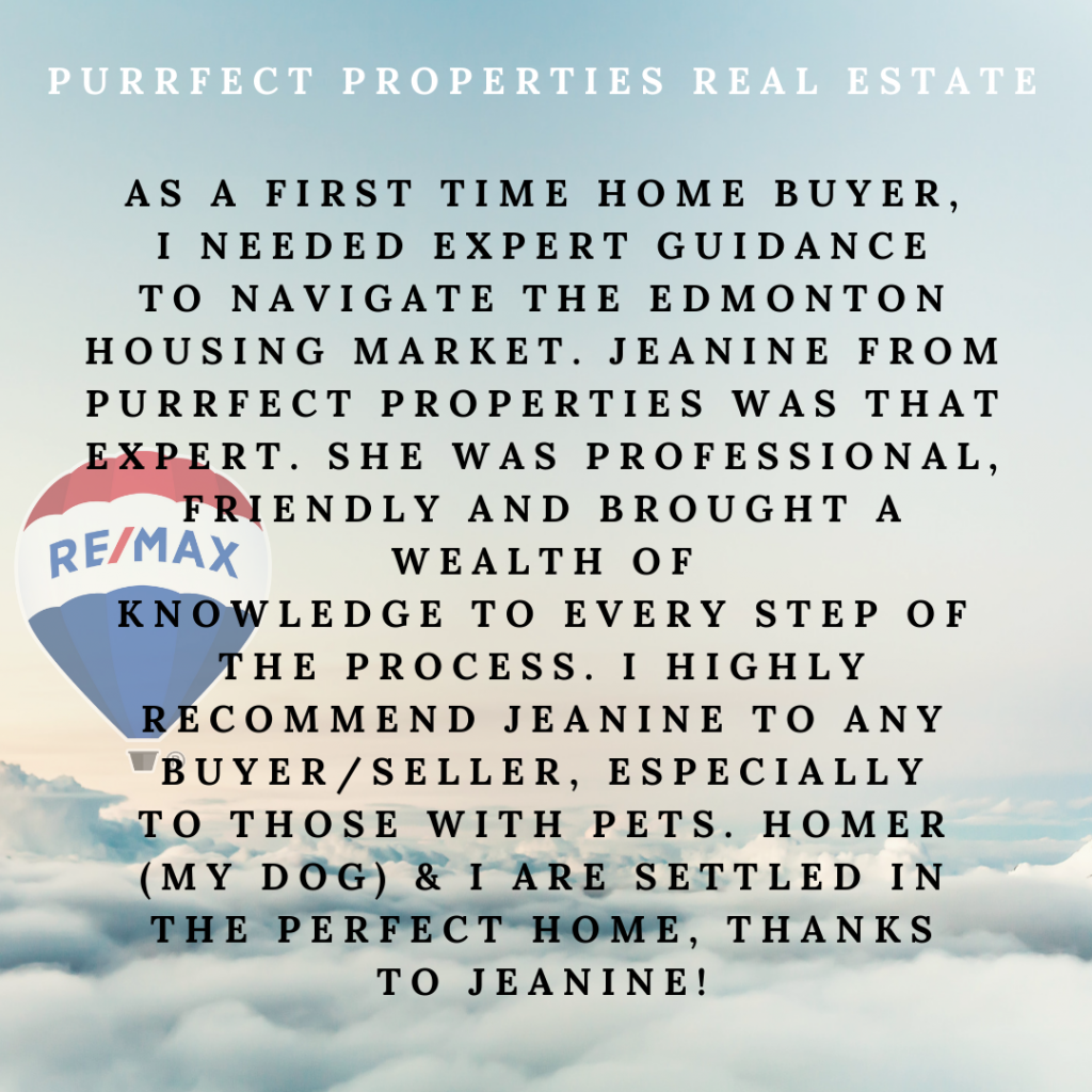 Purrfect-Properties and Jeanine Osborne - Client Testimonial